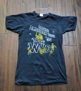 The Who North American Tour 1982 Original Vintage Concert T-Shirt Women's Small