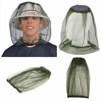 Midge Mosquito Insect Hat Bug Mesh Head Net Face Protector Travel Camping 7@XD