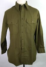 WWII US M1937 M37 ENLISTED NCO WOOL COMBAT FIELD SHIRT-SMALL