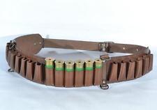 Cartridge Shotgun Ammo Belt Bandolier Holder Leather w/ 24 Pockets 100% 12 gauge
