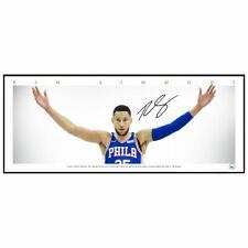 BEN SIMMONS PHILADELPHIA 76ERS MINI WINGS SIGNED FRAMED NBA POSTER PRINT