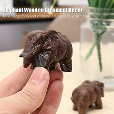 1 Pair Elephant Wooden Ornament Home Creative Tabletop Antique Decoration Craft