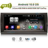 """10.25"""" Android 10 Autoradio GPS Navigation DSP CarPlay for BMW 5er X5 E53 M5 E39"""