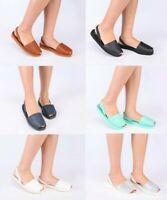 Ladies Womens Genuine Leather Upper Soft Sole Summer Sling Back Sandals Shoes