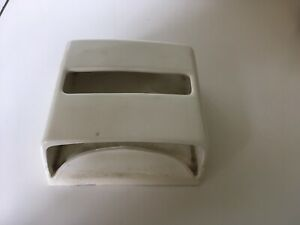 VINTAGE JEYES CERAMIC TOILET PAPER TISSUE HOLDER DISPENSER WHITE BRISTOL BRITISH