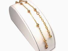 *CKstella*  Elegant 14K Gold gf  Linked Ball Chain Anklet Ankle Bracelet