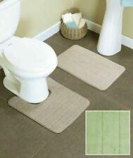 2-Pc. Foam Cushioned Comfort Bath Rug Mat Set Sage