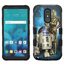 for LG G Stylo 4 Hard Impact Rugged Hybrid Cover Case -Star Wars C3P0 R2D2