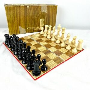 Vintage GRACE TOYS Plastic Chess Set w/ Game Board 7483 in Original box Complete