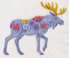Embroidered Sweatshirt - Flower Power Moose L8731