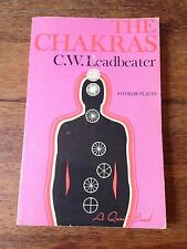 VINTAGE BOOK THE CHAKRAS BY C.W. LEADBEATER - 10 COLOR PLATES ILLUSTRATIONS