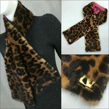 Raro Louis Vuitton Mujer Stephen Sprouse LV Logo Bufanda Estola Cuello de piel de visón