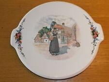 33.5cm ancien PLAT à TARTE SARREGUEMINES obernai LOUX ALSACE plate Torte Teller