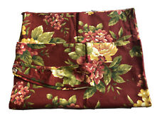 Two (2) NWOT Waverly Garden Room Floral Manor Window Curtain Panels Red Flowers
