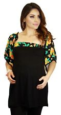 Floral Black Maternity Top Solid Kimono Sleeves Fashion Pregnancy Top Vintage
