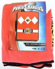 Saban's Mighty Morphin Power Rangers Red Ranger Fleece Throw Blanket 45x60 MMPR