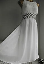 MONSOON IVORY ST LUCIA SILVER SEQUIN EMBELLISHED GRECIAN WEDDING PARTY DRESS 16
