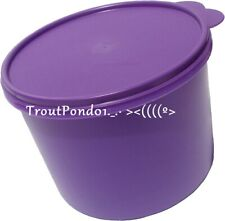 Tupperware Stacking Nesting Canister Storage 10 Cups Grape Purple Unused