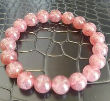 Crystal Stretch Beads 10mm Bracelet Natural Top Quality Red Ice Strawberry