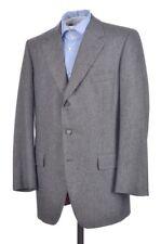 CHESTER BARRIE Carroll & Co Gray Flannel Wool Blazer Sport Coat Jacket - 42 L