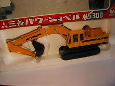 SHINSEI PELLE HYDRAULIC EXCAVATOR MITSUBISHI MS 300 N° 606 SCALE 1/48 EN BOITE