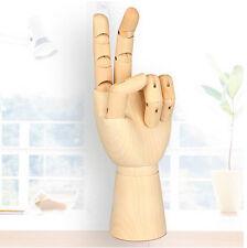 7'' Gliederpuppe Linke Holz Hand Malhilfe Gliederhand Modellpuppe Modellhand