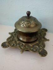 Antique  Brass Inkwell Art Nouveau