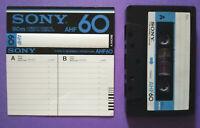 MC Musicassetta SONY AHF 60 vintage compact cassette audio tape USATA no basf 4°