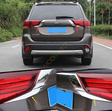 For Mitsubishi Outlander 2016 2017 2018 Chrome Rear Door Trunk Lid Cover Trim 2X