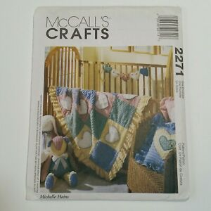 McCall's Crafts #2271 Chenille Bunny, Bear, Pillow, Quilt, or Garland NEW Uncut