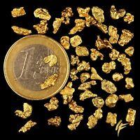 10 Gramm XL Goldnuggets Alaska mit Zertifikat ! TOP-Geschenk + Wertanlage Barren