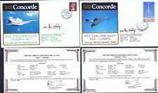 7.4.80 TWO BA CONCORDE FLT SEO IAN KIRBY SIGNED COVERS_LONDON - NICE - LONDON_R