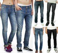 B-Ware Neu Nudie Damen Herren Unisex Slim Skinny Fit Bio Stretch Denim Jeans