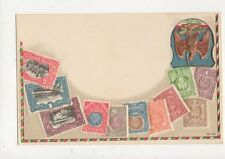 Mexico Vintage Embossed Stamp Philatelic Postcard 500a