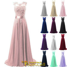 Chiffon Bridesmaid Dress Long Evening Wedding Party Ball Gown Prom Dresses