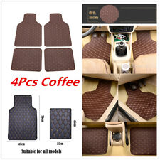 Universal Waterproof Dustproof Car PU Leather Front Rear Floor Foot Mats 4Pcs