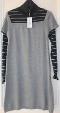 robe fille lainage gris et noir effet 2 en1 absorba confetti taille 14 ans neuve