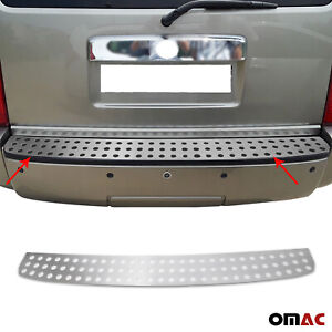 Fits Dodge Nitro 2007-2012 Chrome Rear Bumper Guard Trunk Sill Protector Brushed