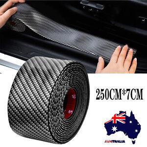 Car Sticker Carbon Fiber Rubber DIY door Sill Protector Edge Bumper Guard Strip