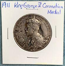 1911 United Kingdom King George V Coronation Medal Silver
