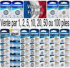 Piles boutons Camelion Lithium 3V / CR1225 CR1220 CR1216 CR2016 CR2025 CR2032