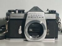 Vtg Asahi Pentax Spotmatic SP 35mm SLR Camera with Super-Takumar 55mm Lens Japan