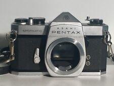 Vtg Asahi Pentax Spotmatic SP 35mm SLR Camera with Super-Takumar 55mm Lens Japan