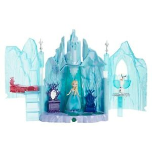 Disney Frozen Elsa Castle + BONUS Horse Sleighs Polly Pocket Princess Anna Olaf