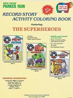 VINTAGE AD SHEET #1819 - PARKES RUN COLORING BOOKS - HULK - SPIDERMAN - F. FOUR