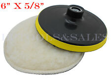 "6"" x 5/8"" Polishing Wheel w/ Backing Pad Buffing Polishing Wheel Auto Car"