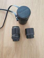Asahi Super Takuma 1:3.5/135 Camera Lens With Hood And Leather Case