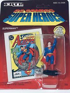 """ERTL Vintage 1990 DC Comics Super Heroes """"SuperMan"""" Die-Cast Metal"""