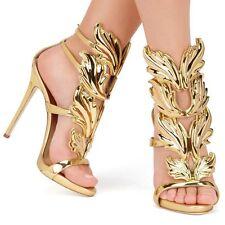 gladiator 13 cm Sexy Gold Gelb peeptoes fetish sky sandals high heels 43 42 us11