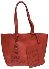 NWT Tommy Bahama Woman's Plane To Playa Tote, Red Color - W/Detachable Clutch